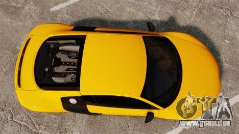 Audi R8 V10 plus Coupe 2014 [EPM] [Update] pour GTA 4 est un droit