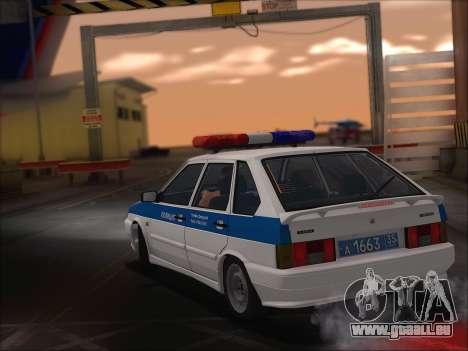 VAZ 2114 Police DPS pour GTA San Andreas vue intérieure