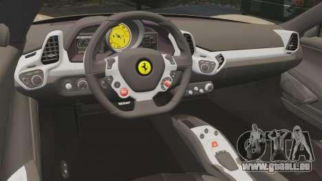 Ferrari 458 Italia 2011 pour GTA 4 est un côté