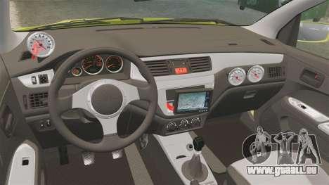 Mitsubishi Lancer Evolution VII 2002 für GTA 4 Innenansicht