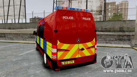 Mercedes-Benz Sprinter 313 CDI Police [ELS] für GTA 4 hinten links Ansicht