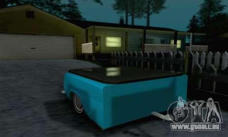 Remorque pour Vaz 2102 pour GTA San Andreas vue de droite