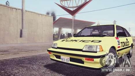 Honda Civic Si 1986 HQLM für GTA San Andreas Räder