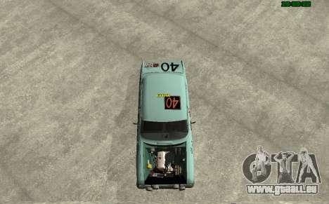 Moskvitch 412 Rallye pour GTA San Andreas sur la vue arrière gauche