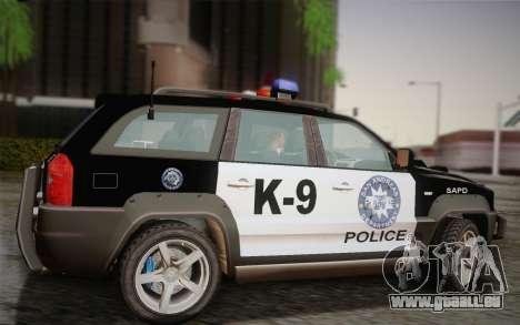 NFS Suv Rhino Heavy - Police car 2004 pour GTA San Andreas laissé vue