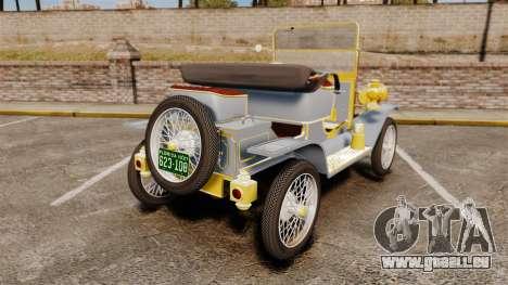 Ford Model T 1910 für GTA 4 hinten links Ansicht