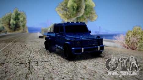 Mercedes-Benz G63 AMG 6x6 pour GTA San Andreas sur la vue arrière gauche