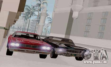 Plymouth Road Runner 383 1969 pour GTA San Andreas vue intérieure
