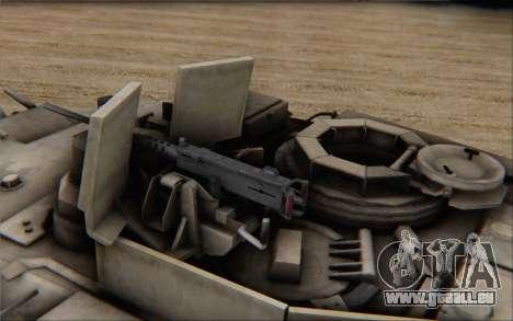 M1A2 Abrams pour GTA San Andreas sur la vue arrière gauche