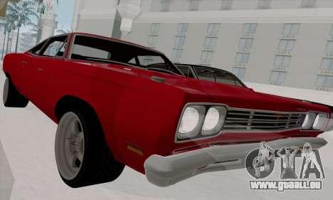 Plymouth Road Runner 383 1969 pour GTA San Andreas vue de côté