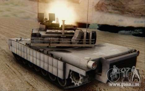 M1A2 Abrams pour GTA San Andreas laissé vue