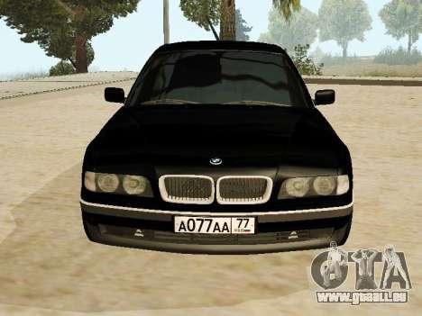 BMW 730 E38 pour GTA San Andreas sur la vue arrière gauche