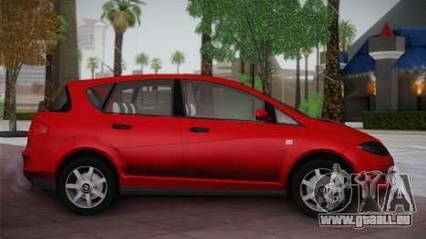 Seat Toledo 1.9TDi 2006 pour GTA San Andreas laissé vue