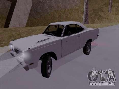 Plymouth Road Runner 383 1969 pour GTA San Andreas sur la vue arrière gauche