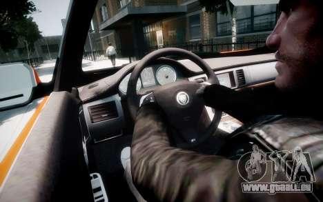 Jaguar XF-R 2012 v1.1 für GTA 4 Innen