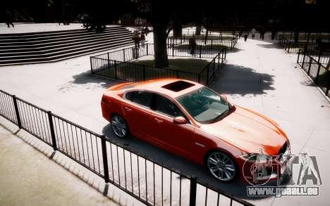 Jaguar XF-R 2012 v1.1 für GTA 4 Rückansicht