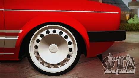 Volkswagen Golf MK1 Red Vintage pour GTA San Andreas vue intérieure