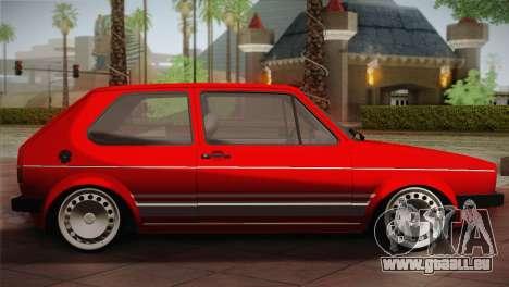 Volkswagen Golf MK1 Red Vintage pour GTA San Andreas laissé vue