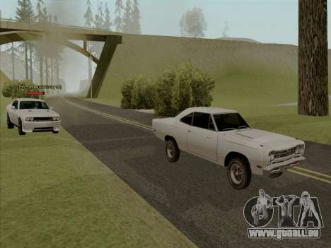 Plymouth Road Runner 383 1969 pour GTA San Andreas roue