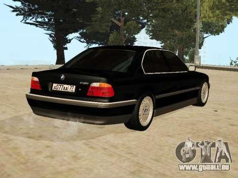 BMW 730 E38 pour GTA San Andreas laissé vue