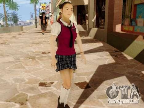 Hanako pour GTA San Andreas troisième écran