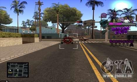 C-HUD Ballas Gang für GTA San Andreas fünften Screenshot