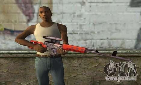 SVD Fusil de Sniper pour GTA San Andreas troisième écran