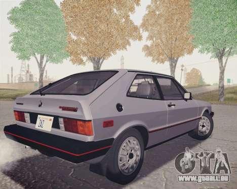 Volkswagen Scirocco S (Typ 53) 1981 HQLM pour GTA San Andreas laissé vue
