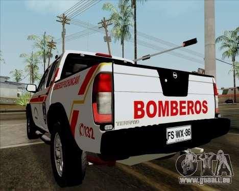 Nissan Terrano pour GTA San Andreas vue arrière