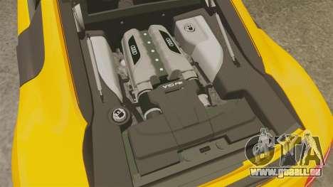 Audi R8 V10 plus Coupe 2014 [EPM] [Update] pour GTA 4 est une vue de l'intérieur