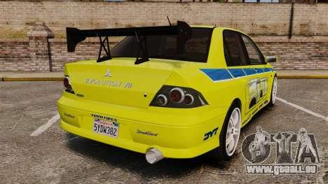 Mitsubishi Lancer Evolution VII 2002 für GTA 4 hinten links Ansicht