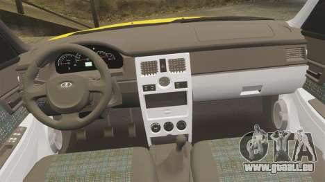 VAZ-Lada 2170 Priora pour GTA 4 vue de dessus