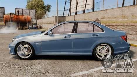 Mercedes-Benz C63 AMG 2013 pour GTA 4 est une gauche
