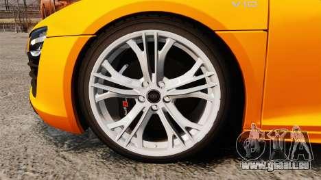 Audi R8 V10 plus Coupe 2014 [EPM] [Update] pour GTA 4 Vue arrière