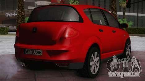 Seat Toledo 1.9TDi 2006 für GTA San Andreas zurück linke Ansicht