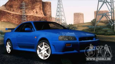 Nissan Skyline GT-R R34 V-Spec für GTA San Andreas