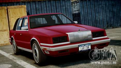 Chrysler New Yorker 1988 pour GTA 4 Vue arrière de la gauche