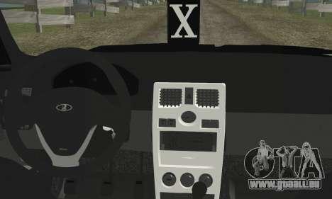 LADA Priora 2170 pour GTA San Andreas sur la vue arrière gauche