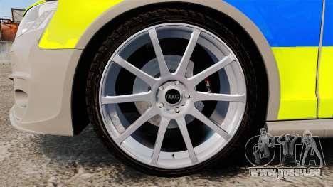 Audi S4 2013 Metropolitan Police [ELS] pour GTA 4 Vue arrière