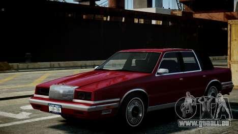 Chrysler New Yorker 1988 pour GTA 4 est une vue de l'intérieur