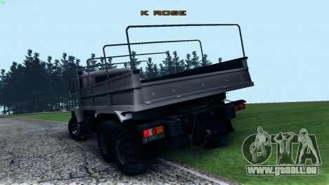 Kraz 6322 pour GTA San Andreas sur la vue arrière gauche