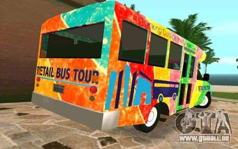 Ford E350 Shuttle Bus pour GTA San Andreas sur la vue arrière gauche