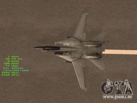 F-14 LQ für GTA San Andreas obere Ansicht