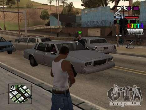 C-HUD A.C.A.B pour GTA San Andreas deuxième écran