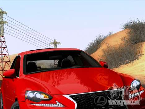 Lexus IS350 2014 F-SPORT für GTA San Andreas Rückansicht