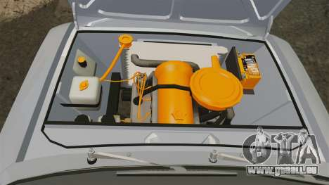 VAZ-Lada 2101 URSS pour GTA 4 est une vue de l'intérieur