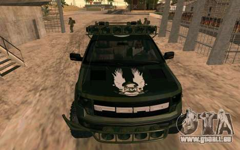 Ford F150 Raptor Unique Edition für GTA San Andreas rechten Ansicht