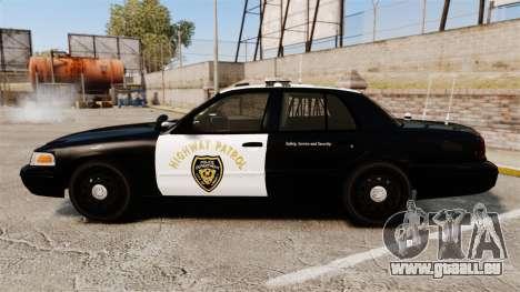 Ford Crown Victoria 2008 LCHP [ELS] pour GTA 4 est une gauche