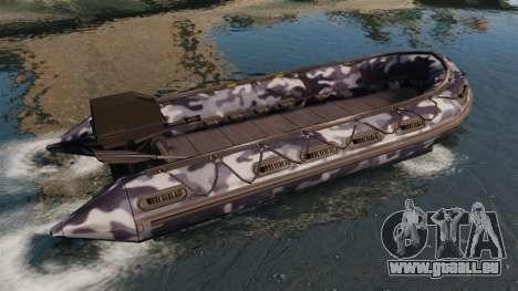 US Navy SEAL Zodiac für GTA 4 linke Ansicht