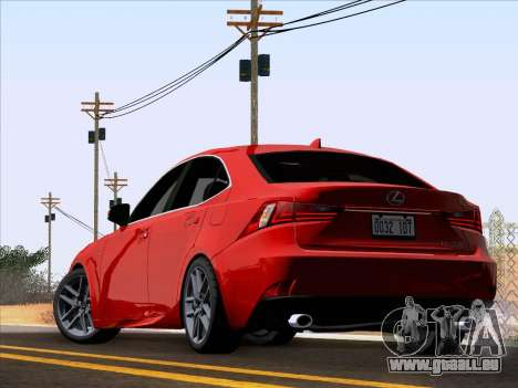 Lexus IS350 2014 F-SPORT für GTA San Andreas linke Ansicht
